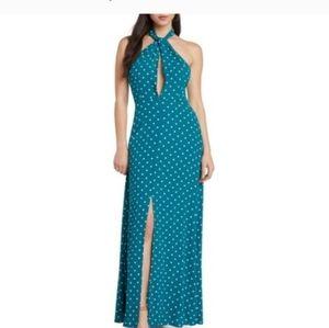Willow & Clay teal polka a dot dress.